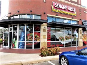 Dimensional Letters custom storefront outdoor building restaurant window vinyl channel letters 300x225